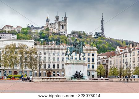 Place Bellecour Is A Large Square In The Centre Of Lyon, France