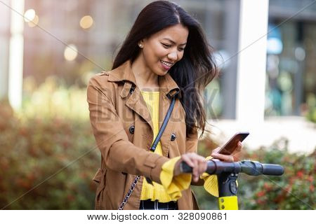 Activating electric scooter from smart phone