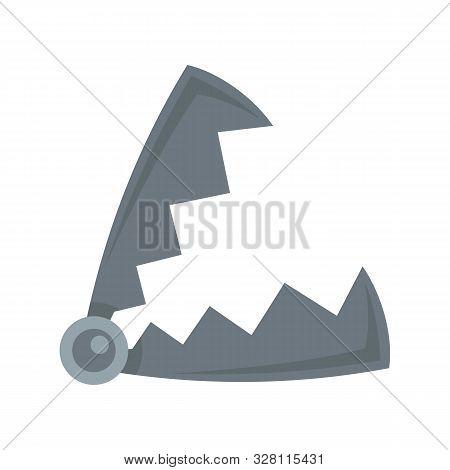 Metal Hunter Trap Icon. Flat Illustration Of Metal Hunter Trap Vector Icon For Web Design