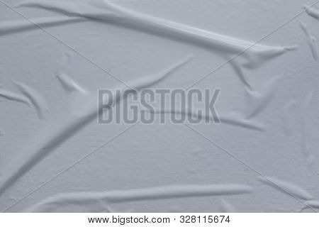 Glued Uneven Bubbled Up White Paper Background Backdrop