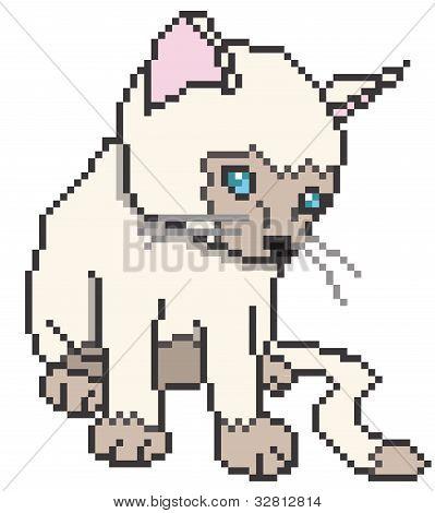 Pixel kitty - vector illustration