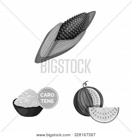 Isolated Object Of Transgenic And Organic Symbol. Collection Of Transgenic And Synthetic Vector Icon