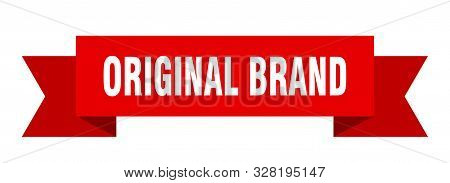 Original Brand Ribbon. Original Brand Isolated Sign. Original Brand Banner