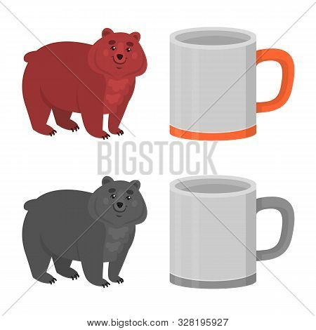 Isolated Object Of Cookout And Wildlife Sign. Collection Of Cookout And Rest Stock Vector Illustrati