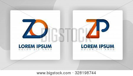 Zo And Zp Logo Letters In 3d Style. Can Be Used For Company Logos, Fellowships, Consultants, Website