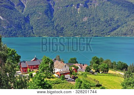 Scenic View Of Ornes Traditional Village