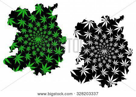 Shropshire (united Kingdom, England, Non-metropolitan County, Shire County) Map Is Designed Cannabis