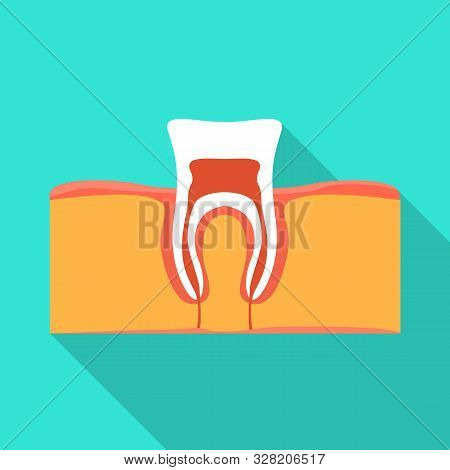 Isolated Object Of Tooth And Gingiva Logo. Web Element Of Tooth And Clean Vector Icon For Stock.
