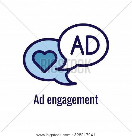 Social Media Ads Icon - Advertising Imagery, Including Social Engagement