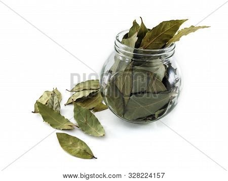 Dry Bay Leaves For Use In Cooking And Medicine. Bay Leaf As A Folk Medicine With Beneficial Properti