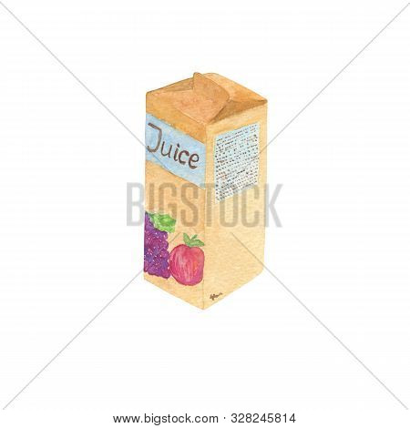 A Watercolor Fruit Juice, Simple Food Pattern, A Healthy Drink For Beakfast