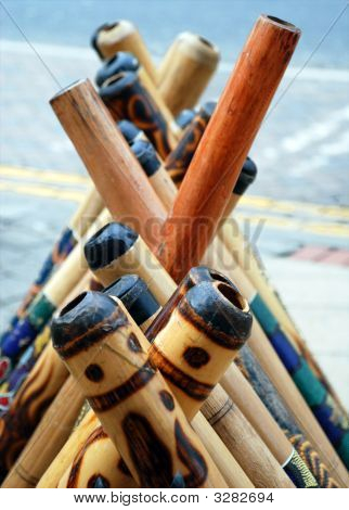 Didgeridoos On Display