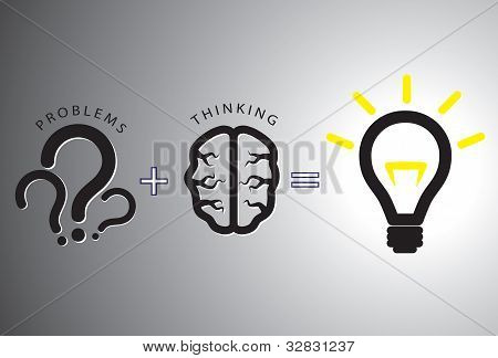 Problem Solution Concept - Solving It Using Brain