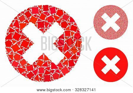Cancel Composition Of Abrupt Items In Variable Sizes And Shades, Based On Cancel Icon. Vector Tubero