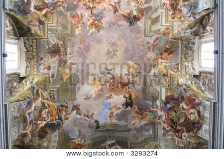 Ceiling In Italian Church
