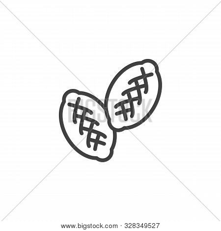 Patties, Patty Line Icon. Linear Style Sign For Mobile Concept And Web Design. Russian Pies, Hotcake