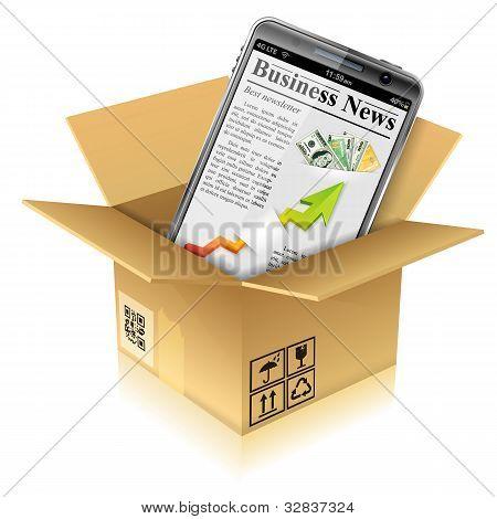 Cardboard Box With Smart Phone