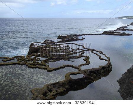 Blowholes In Mapua Vaea, Kingdom Of Tonga