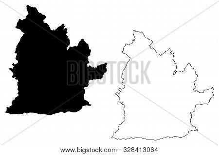 Nitra Region (regions Of Slovakia, Slovak Republic) Map Vector Illustration, Scribble Sketch Nitra M