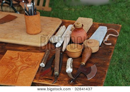 Table of medieval tools