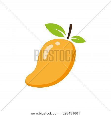 Mango Icon. Mango Icon Vector Flat Illustration For Graphic And Web Design Isolated On White Backgro