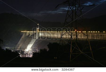 Norris Dam And Power House After A Thunderstorm