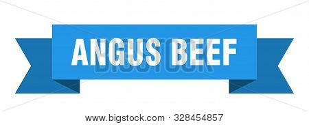 Angus Beef Ribbon. Angus Beef Isolated Sign. Angus Beef Banner