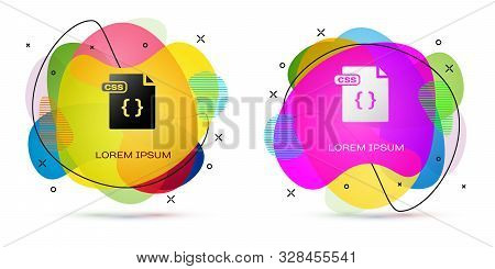 Color Css File Document. Download Css Button Icon Isolated On White Background. Css File Symbol. Abs