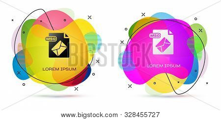 Color Msg File Document. Download Msg Button Icon Isolated On White Background. Msg File Symbol. Abs