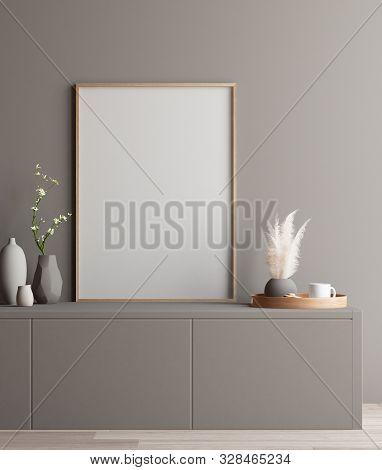 Modern Interior, Poster Mock Up, 3d Illustration