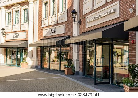 Richmond, Canada - April 10, 2019: Outlet Mall Mcarthurglen Designer Outlet Vancouver Airport With F