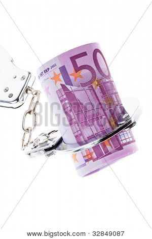 �¢â���¬ 500 bill with handcuffs