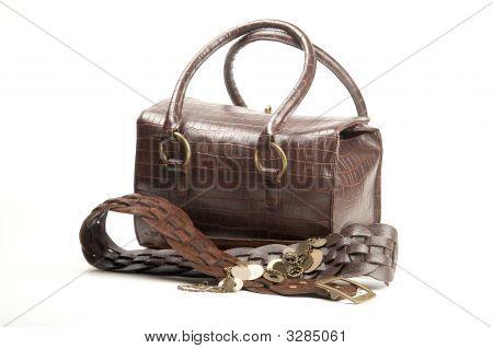 Brown Bag And Belt