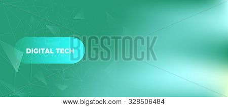 Gradient Technology Wallpaper. Data Motion. Teal Grid Network. Light Polygonal Background. Technolog