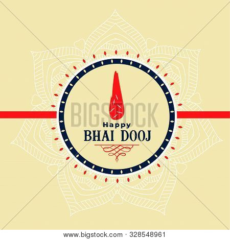Indian Bhai Dooj Festival Celebration Design Background
