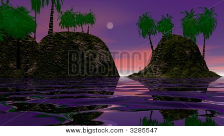 Islands During Dusk
