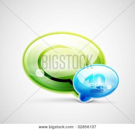Vector chat cloud conceptual background
