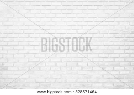 Wall White Brick Wall Texture Background In Room At Subway. Brickwork Stonework Interior, Rock Old C