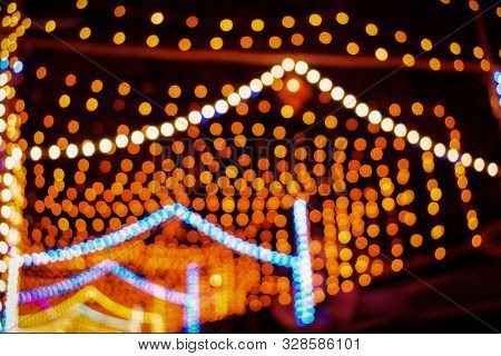 Abstract Background Of Diwali, Gold Bokeh Background, Diwali Lighting Background, Festival Lights, C