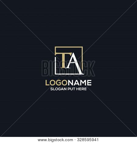 Creative & Modern Ta Letter Logo Design Template For  Business/company Purpose Ready To Use