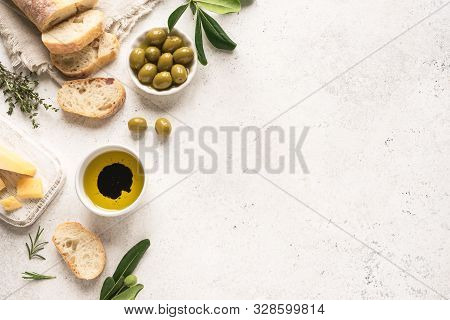 Mediterranean Food Background