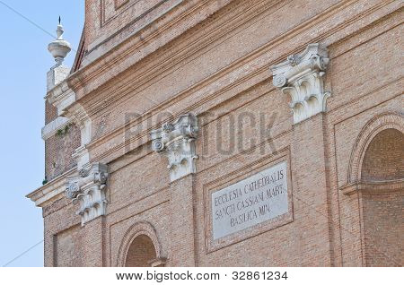 Cathedral of St. Cassiano. Comacchio. Emilia-Romagna. Italy.