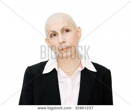 Woman Cancer Patient Undergoing Chemotherapy