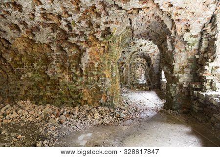 Tarakaniv ( Dubno) Ruined Fortress, Fortification. Tarakanovskiy Fort. Ukraine. Abandoned Destroyed