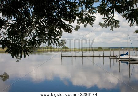 Reflective Sky On Water
