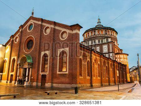 Beautiful church Santa Maria delle Grazie is the place where can be found famous fresco of Leonardo da Vinci