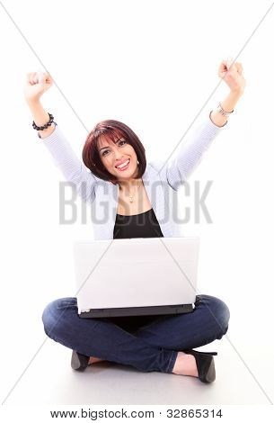 Success - woman on laptop