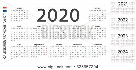 Calendrier Trial 2022 French Calendar 2020 Vector & Photo (Free Trial) | Bigstock
