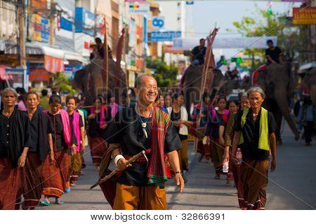 Surin Village Elder Leading Parade Group