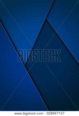 Abstract Vector Background With Overlapping Planes In Blue Tones For Business Design, Book Covers, B